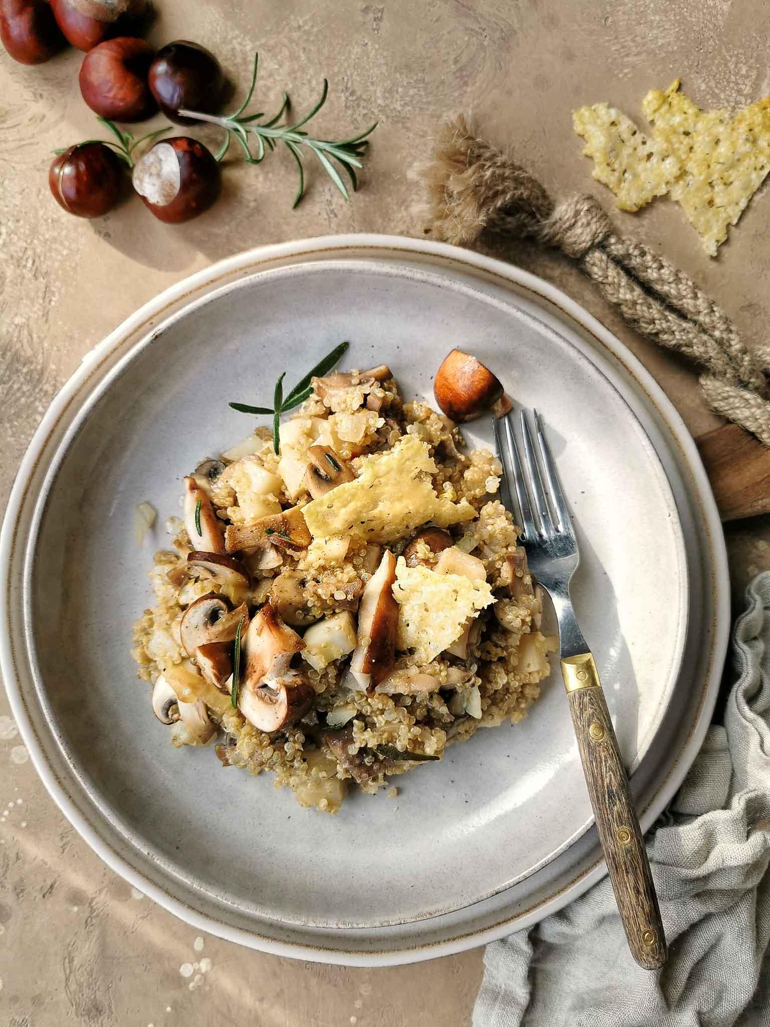 Risotto van quinoa vegetarisch