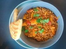 Curry met linzen