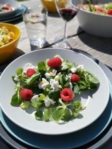 's zomerse salade met frambozen