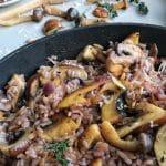 Rode wijn risotto met champignons
