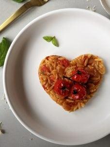 Vegetarische Valentijns risotto