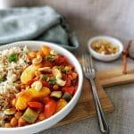Kip pilaf vegetarisch