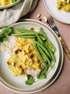 rijst met kerrie vegetarisch