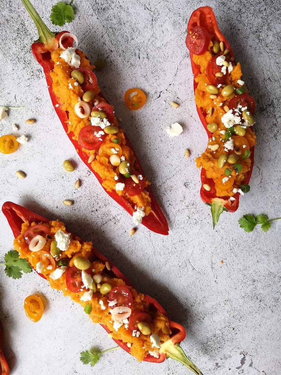 Vegetarische gevulde paprika