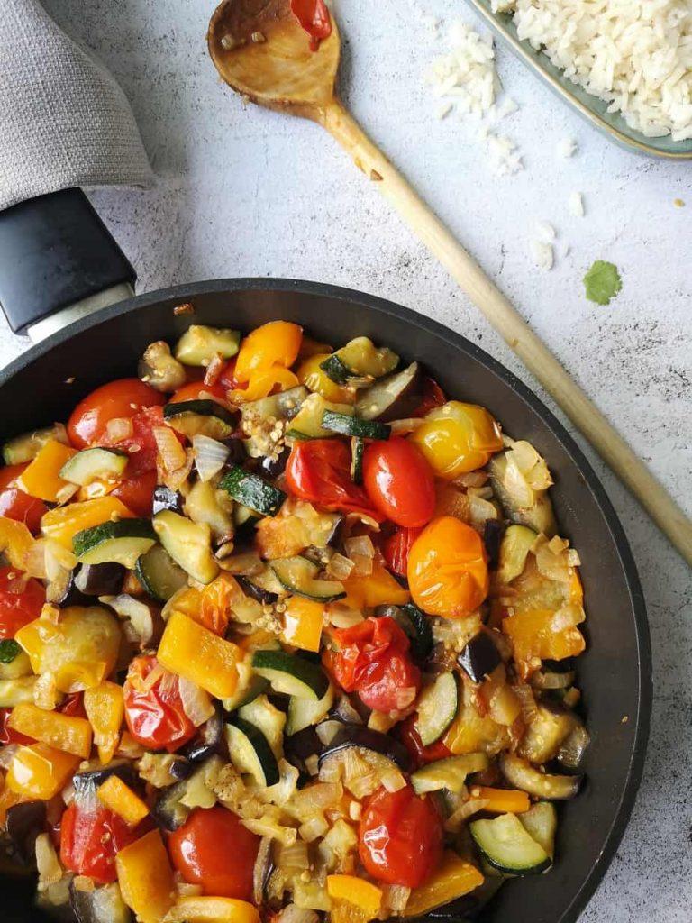 Vegetarische Franse groente stoof