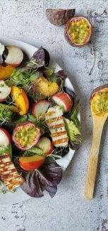 Salade met halloumi