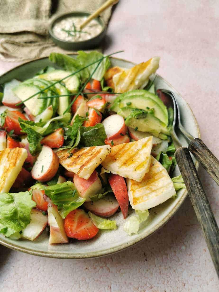 Vegetarische zomerse salade