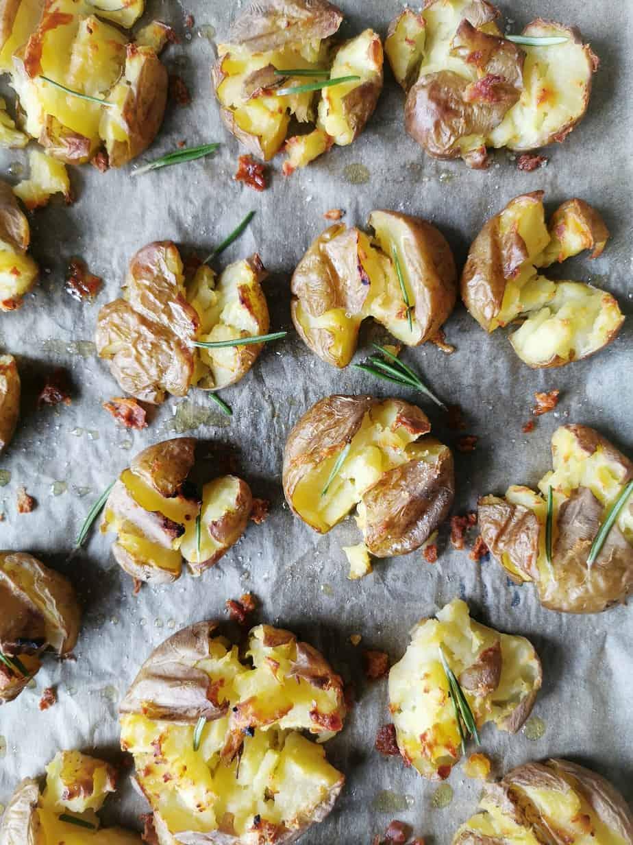 Vegetarisch bijgerecht kerst aardappel