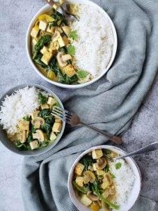 Vegetarische groene curry