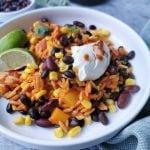 Vegetarisch Mexicaans zwarte bonen en mais