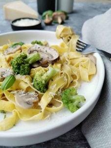 Vegetarische pasta tagliatella