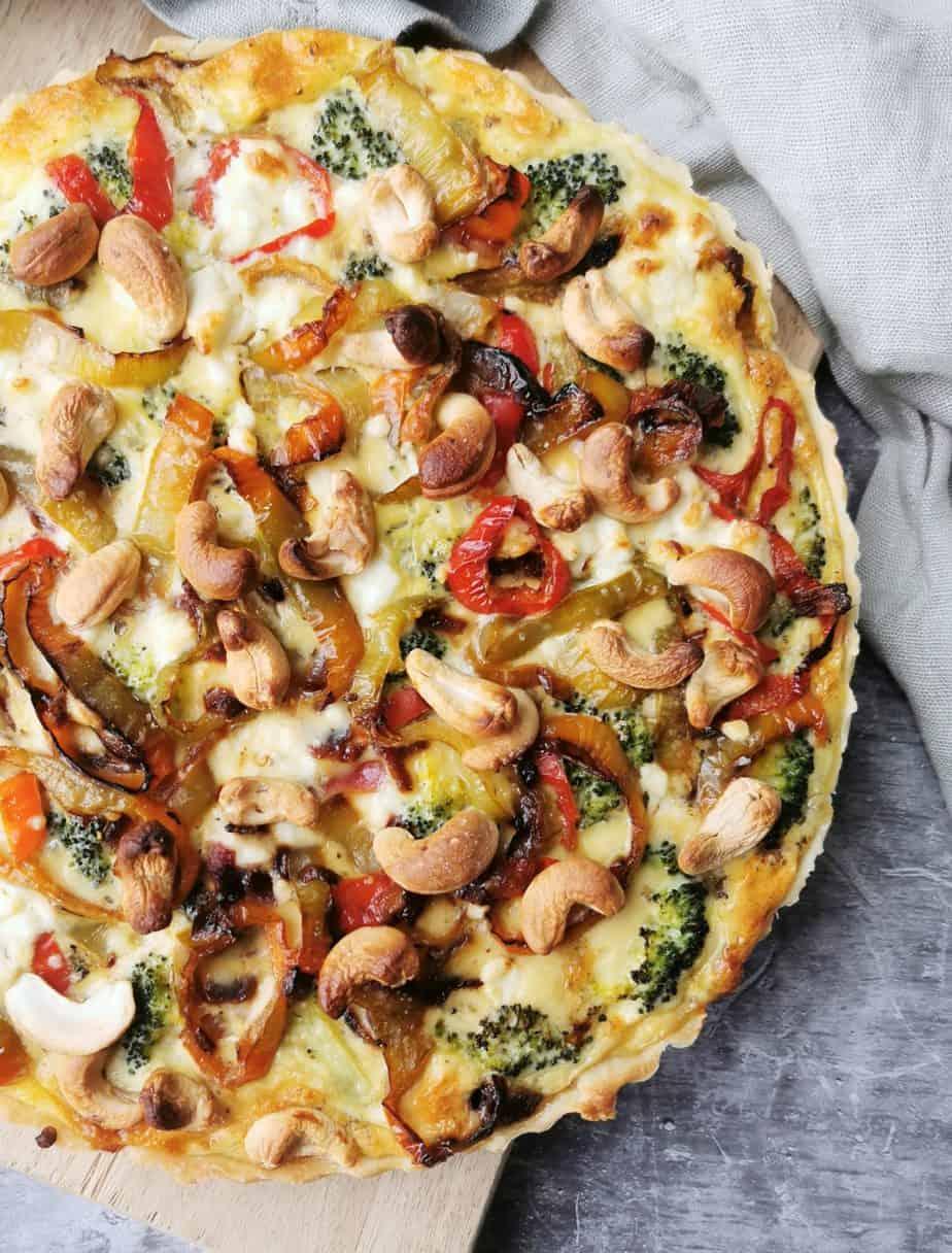 Vegetarische quiche met groente