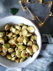 Kerst bijgerecht vegetarisch spruitjes