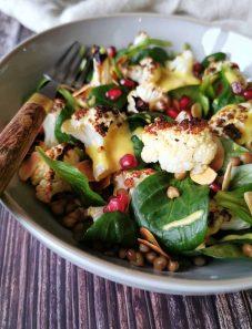 Plantaardige maaltijdsalade groente vegan