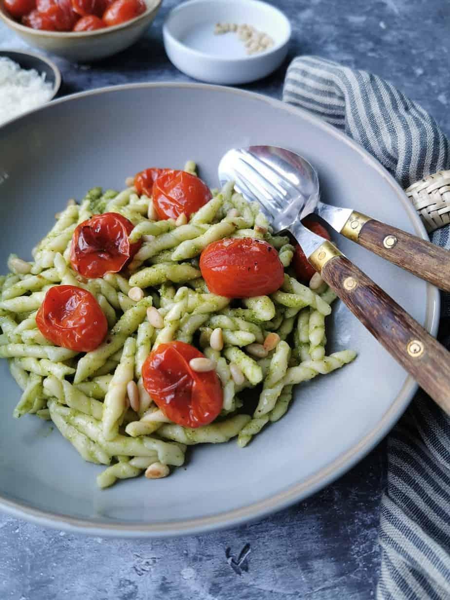 Vegetarische pasta pesto