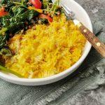 Vegetarische curry met spinazie zonder pakjes en zakjes