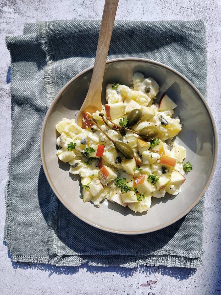 Vegetarische aardappelsalade