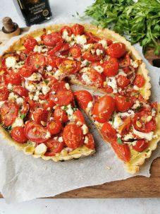 Quiche met tomaat