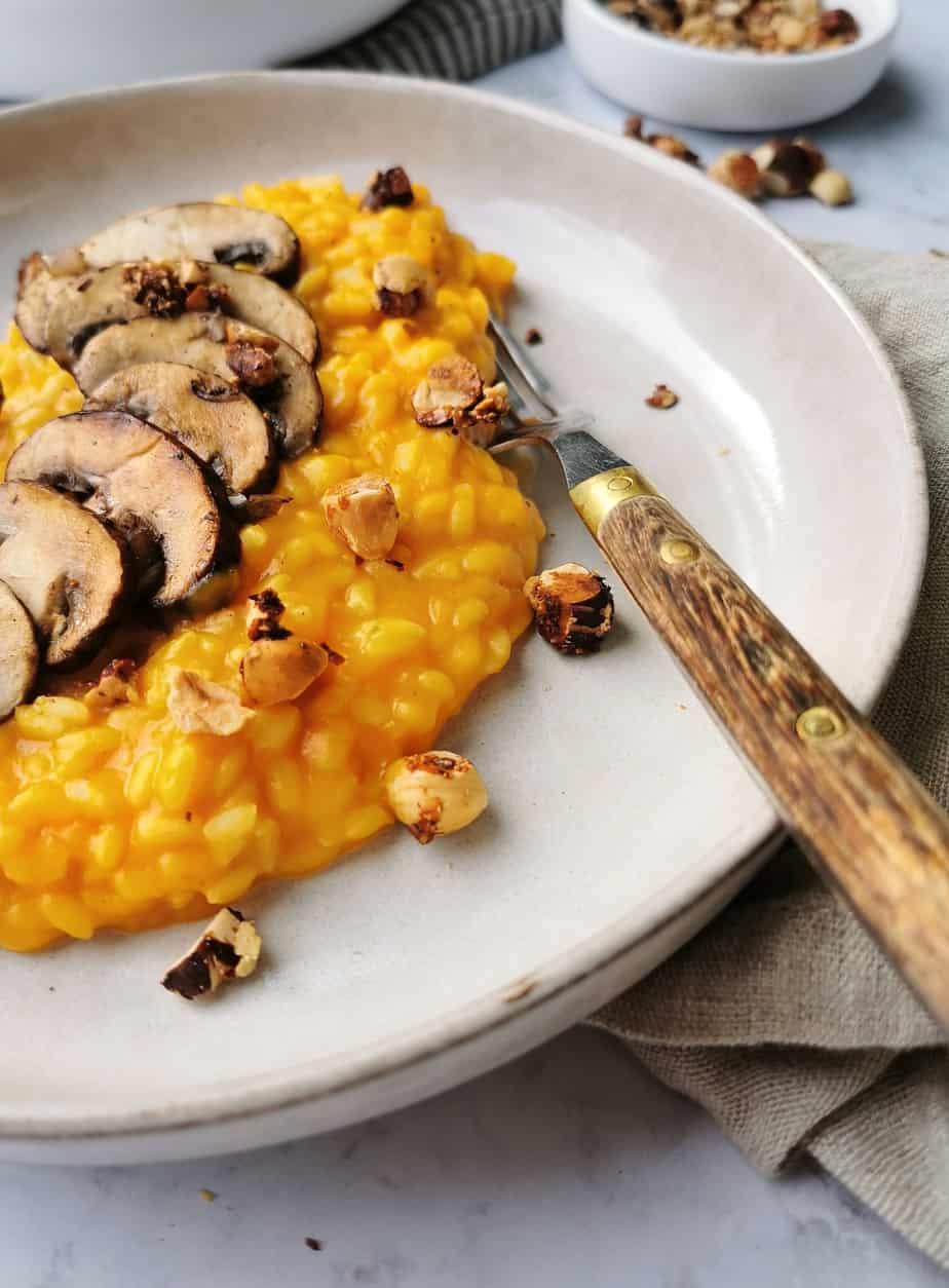 Veganistische risotto