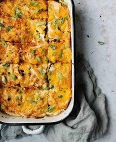 Ovenschotel met wraps vegetarisch