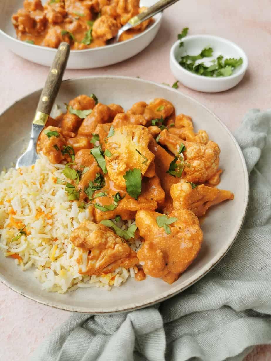 Indiase bloemkool curry