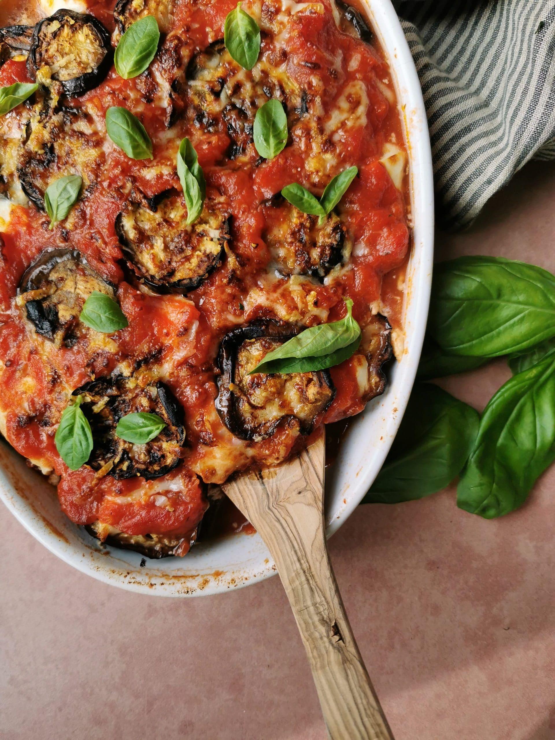 Italiaanse ovenschotel met aubergine