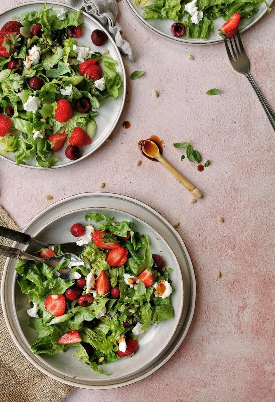 Vegetarische zomer salade