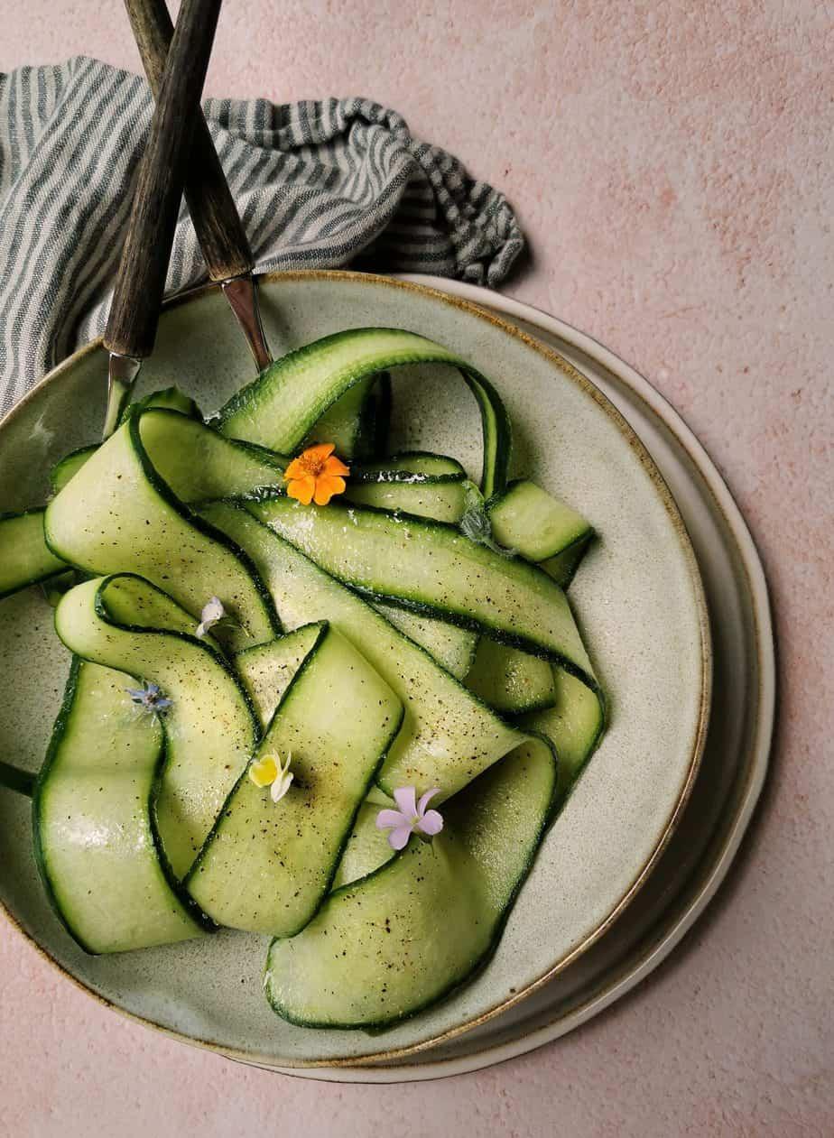 Komkommersalade met azijn