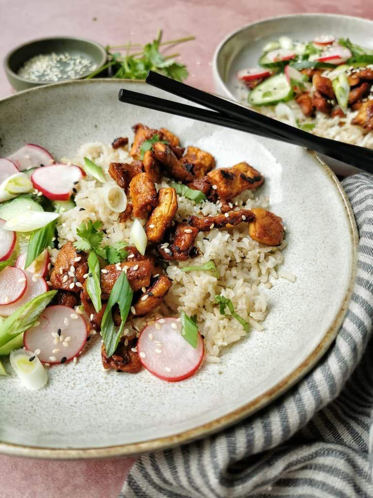 Vegetarische rijst Aziatisch