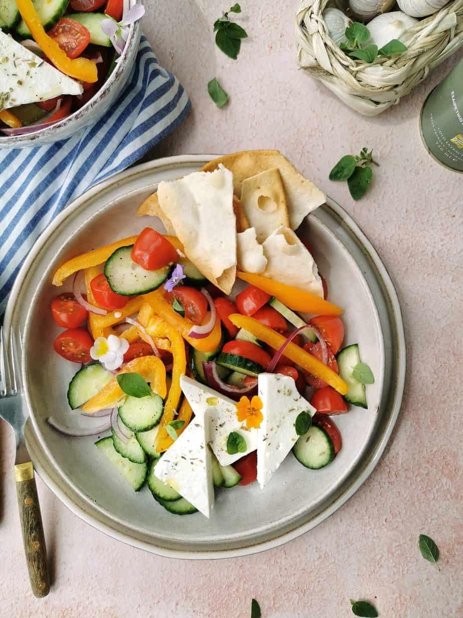 Vegetarische Griekse salade