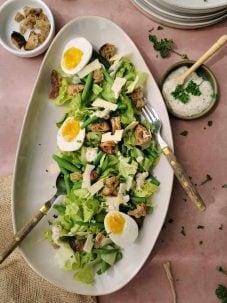Traditionele caesar salad