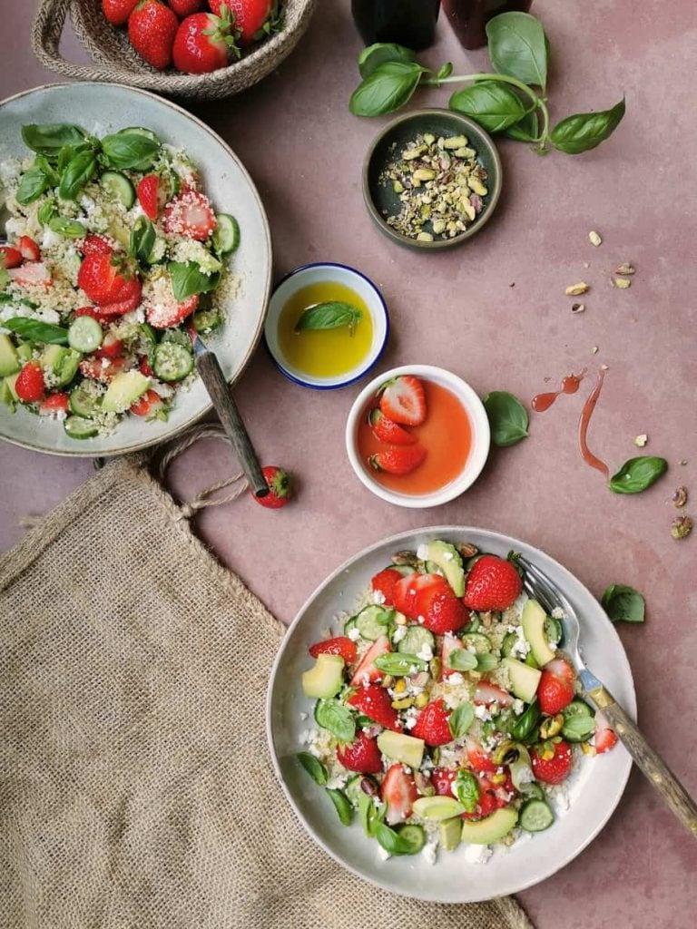 Zomer salade met couscous