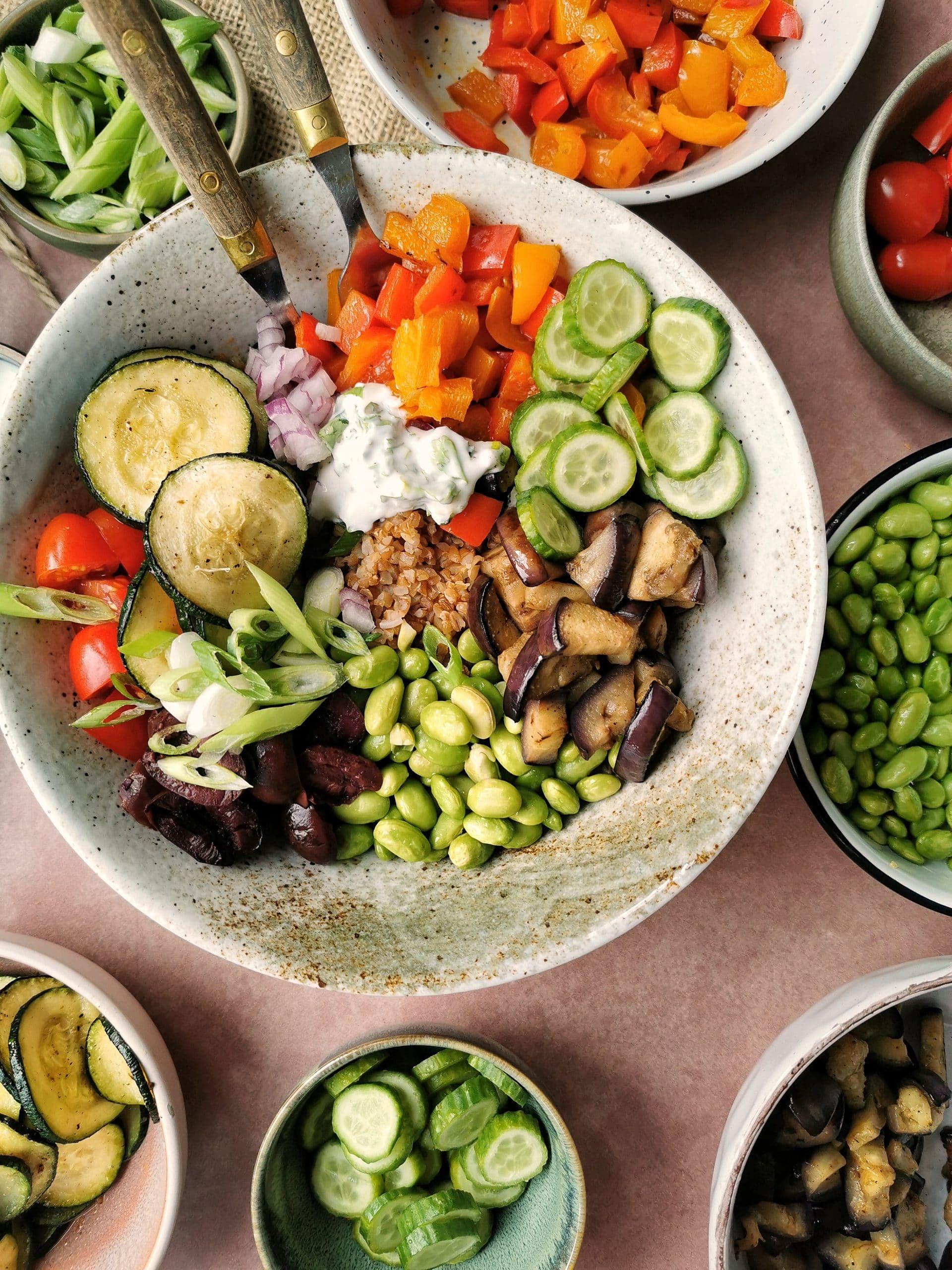 Vegetarische bulgur salade