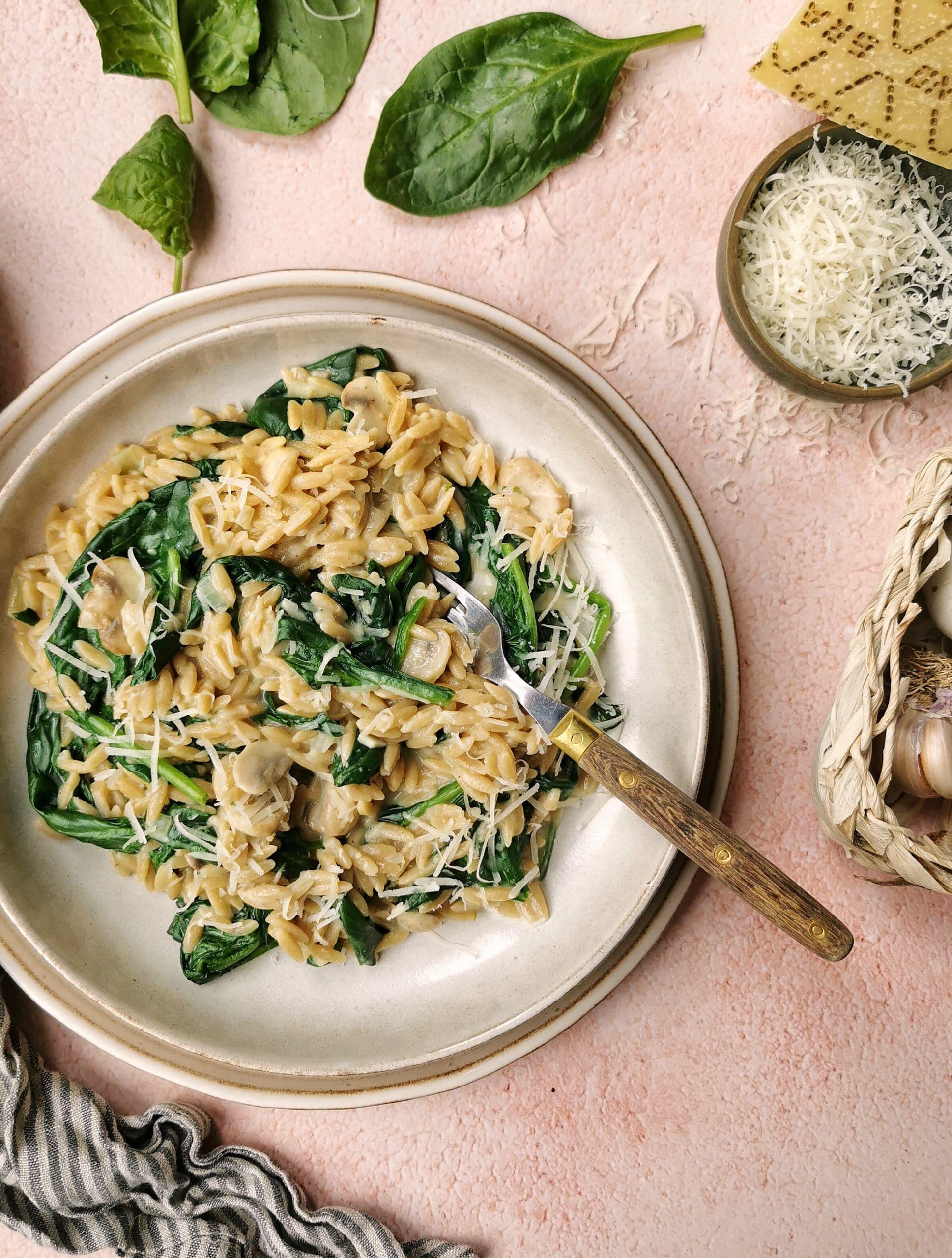 Vegetarische pasta Popeye