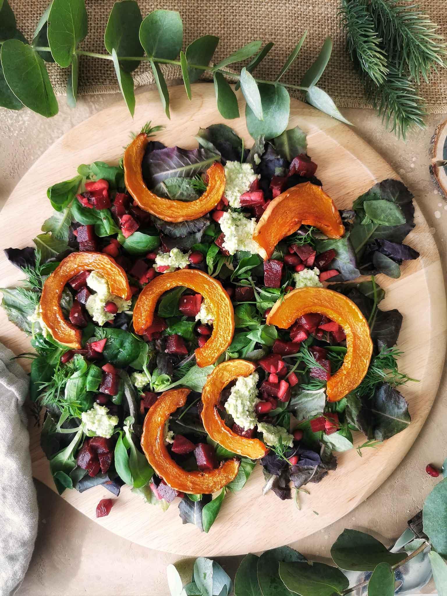 Kerst salade van restjes